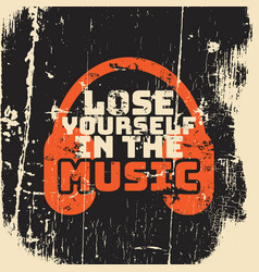 Quote typographical background about music with vector