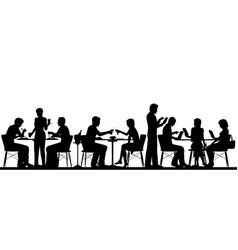 Restaurant silhouette vector