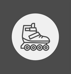 roller skate icon sign symbol vector image