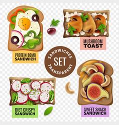 Sandwiches transparent set vector