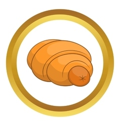 Sausage roll icon vector