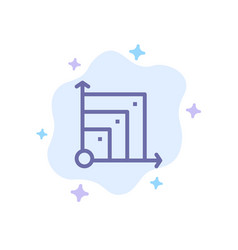 Scalable system scalable system science blue icon vector