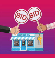 selling or buying business on auction vector image