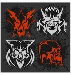 Set of tribal skulls for tattoo vector