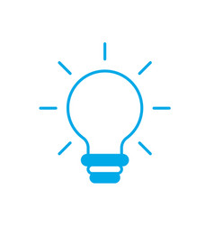 Silhouette nice bulb idea to create and invent vector