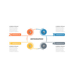 simple infographics template design with 4 options vector image