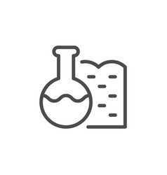 Soil chemical characteristic line outline icon vector