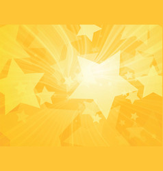 stars abstract rays yellow background vector image