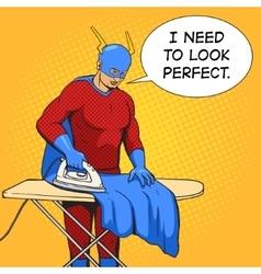 Superhero iron mantle comic book vector