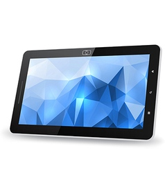 Tablet PC with abstract background vector image