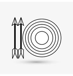 Target design arrow icon Colorfull vector