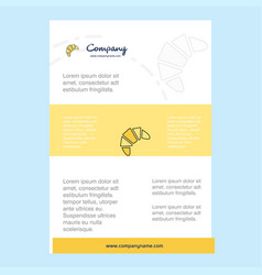 template layout for bun comany profile annual vector image