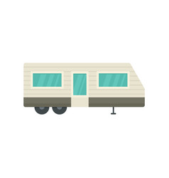 Trailer house icon flat style vector