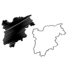 Trentino-alto adige - sudtirol map vector
