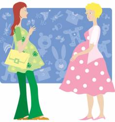 two pregnant ladies vector image