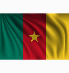 Waving cameroon vector