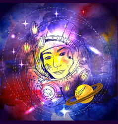 Woman space vector