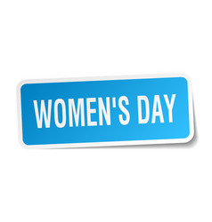 Womens day square sticker on white vector