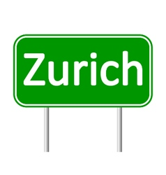 Zurich road sign vector