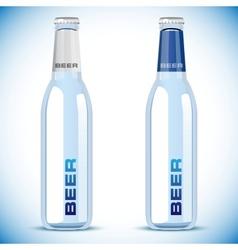 beer bottle on white background vector image vector image