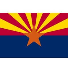Flag of Arizona in correct proportions and colors vector image