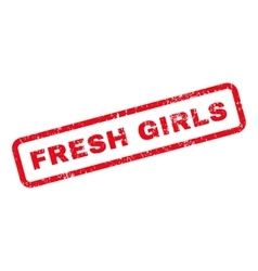 Fresh Girls Text Rubber Stamp vector image vector image