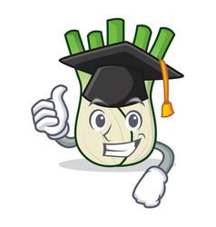 Graduation fennel character cartoon style vector