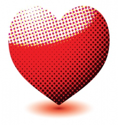 halftone love heart vector image
