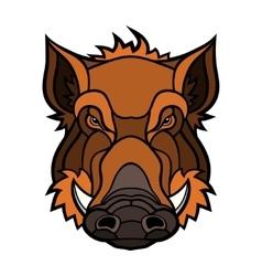 Head of boar mascot color design vector image vector image