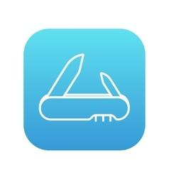 Jackknife line icon vector image