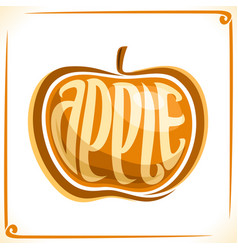 logo for yellow apple vector image vector image
