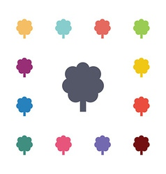 tree flat icons set vector image vector image