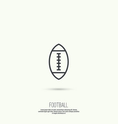 Ball for football vector image vector image