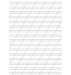 Exercise book paper one page with lines for vector image