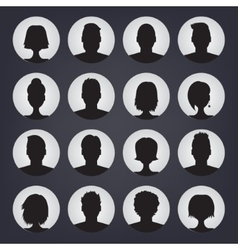 Icons set of people stylish avatars for profile vector image vector image