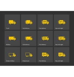 Shipments and free delivery icons vector image