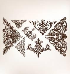 vintage grunge design motifs vector image vector image
