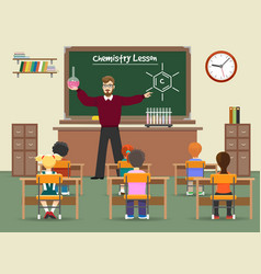 chemistry lesson classroom vector image