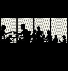 restaurant window vector image vector image