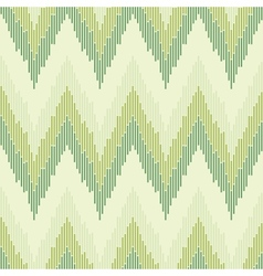 Zigzag pattern in green color Seamless texture vector image vector image