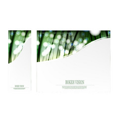 abstract bokeh vision in the forrest template vector image vector image
