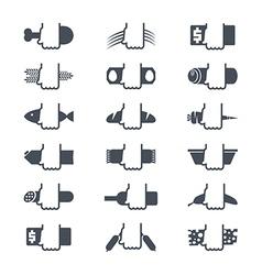 Foodstuffs icons set vector image