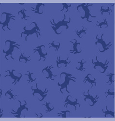 horned goats seamless pattern vector image vector image