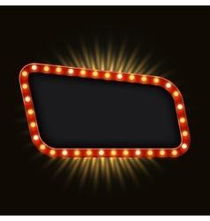 modern retro billboard background vector image vector image
