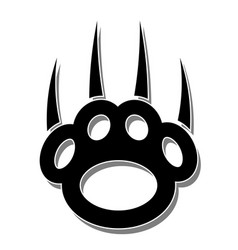 paw print-claws vector image vector image