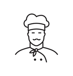 Professional chef line icon vector image vector image