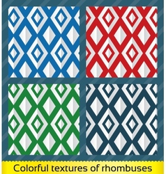 Seamless abstract rhombus pattern vector image