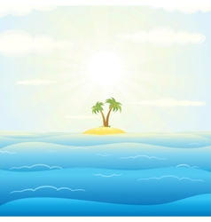 Seascape withTropical Island vector image vector image
