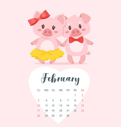 2019 year calendar page vector
