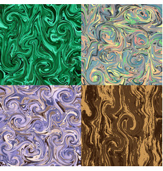 A set with marbling marble texture vector